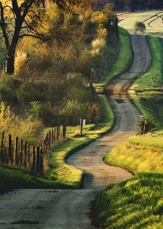 Morning sun lights up a country road (Moravia, Czech Republic) by Peter Perepechenko cr. Beautiful Roads, Beautiful Landscapes, Beautiful World, Beautiful Places, The Road, Back Road, Cenas Do Interior, Art Et Nature, Beau Site