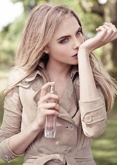 Delevingne tests out the new Tender fragrance