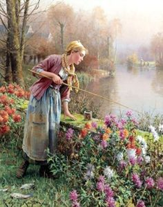 Daniel Ridgway Knight (American, 1839-1924) ~ Type of clothing worn in El Nath.