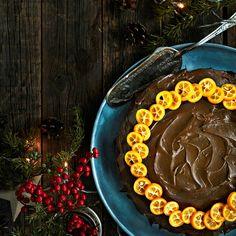 Appelsiini-suklaakakku   K-ruoka #joulu Desserts, Food, Tailgate Desserts, Deserts, Essen, Postres, Meals, Dessert, Yemek
