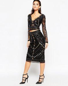 ASOS+NIGHT+Embellished+Pencil+Skirt