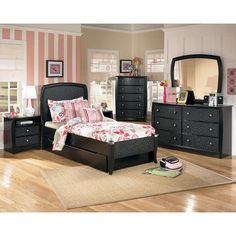 Interchangeable Color Panels for Zayley Youth Bookcase Bedroom set ...