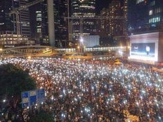 Central/ admiralty democracy protesters in HK