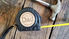 These make the absolute cutest and unique Father's Day gifts! These are 25 foot long tape measures that are customized to fit your needs. Please leave the name you would like in the MIDDLE of the wood round (in the photos, this is where you see DAD and PAPA).Also, please provide what you would like the BOTTOM to say (in the photos, this is where you see Happy Father's Day 2021, and Love, Ashton & Braleigh. Unique Gifts For Dad, Gifts For Him, Happy Fathers Day, Fathers Day Gifts, Customized Gifts, Dads, Middle, Wood, Fit
