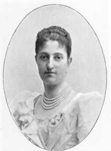 The Archduchess Karoline of Austria-Tuscany (1869-1945). She was a daughter of The Archduke Karl Salvator and his wife, The Princess Maria Immacolata of Bourbon-Two Sicilies. She was the wife (1894-1922) of The Prince August of Saxe-Coburg-Gotha-Koháry. Her surviving children were The Princes Ranier, Philipp, and Ernst, and The Princesses Klementine, Maria Karoline, Theresia, and Leopoldine.