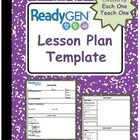 This two page lesson plan template contains all of the components included in the Ready Gen literacy block.  The template is divided into three maj...