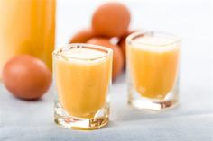 Ilustrační snímek Partys, Glass Of Milk, Eggs, Pudding, Homemade, Fruit, Ethnic Recipes, Desserts, Egg Nog