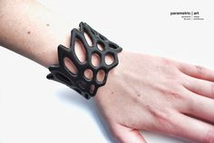 hexagon cuff 3d printed generative bracelet