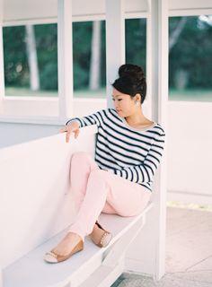 c'est moi | Pink & Nautical | JenHuangPhoto.com