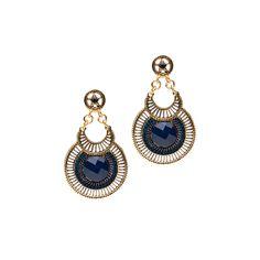 I love the Mocha Circle Drop Earrings from LittleBlackBag