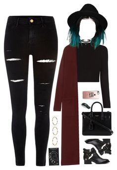 """""""24 November, 2016"""" by jamilah-rochon ❤ liked on Polyvore featuring River Island, Theory, Jeffrey Campbell, Yves Saint Laurent, ASOS, Casetify, Topshop and Boohoo"""