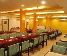Interior view of restaurant at Hotel Sagar Kinara Malvan. The ambiance is quite good over here.