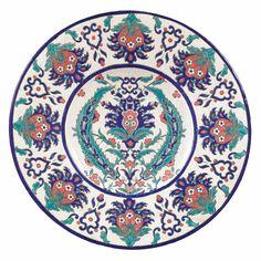 Grand plat en faÏence craquelée sur piédouche, Keramis, Belgique, vers 1930 - 1940 | Lot | Sotheby's