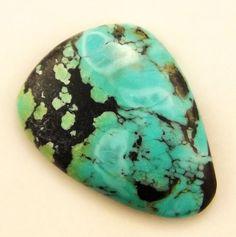 Turquoise Cabochon  Hand Cut Freeform Gemstone by WildRavenStudio, $18.00