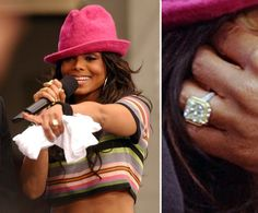 Pin for Later: Ogle the Most Massive Celebrity Engagement Rings Janet Jackson