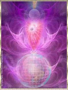 The Violet Consuming Flame surrounding Mother Earth. Sending healing energy to all mankind through the grid