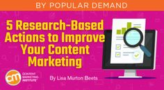 Refresh your content marketing or get stats to build the case for content marketing with this research-based advice – Content Marketing Institute Digital Technology, New Technology, Digital Marketing Strategy, Content Marketing, Marketing Institute, Seo Strategy, Important Facts, Marketing Program, Enough Is Enough
