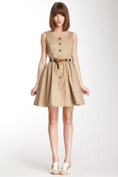 cute button up dress