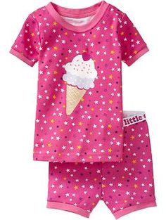 Ice Cream-Graphic Short PJ Sets for Baby (Old Navy 12m-5T)
