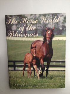 """The Horse World of the Blue Grass"" Kentucky Thoroughbreds-out of print-H/C,"