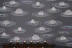 WATER LILIES - Reusable Wall STENCILS - EASY DIY Home Decor/Wall Decor | OliveLeafStencils - Furnishings on ArtFire
