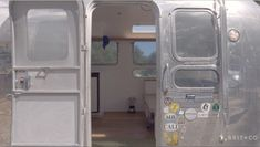 Tiny Spaces: A Modern Airstream Makeover That's Worth the Vacation Days - Wohnwagen Airstream Remodel, Airstream Renovation, Airstream Interior, Vintage Airstream, Airstream Trailers, Trailer Remodel, Vintage Trailers, Airstream Living, Vintage Campers