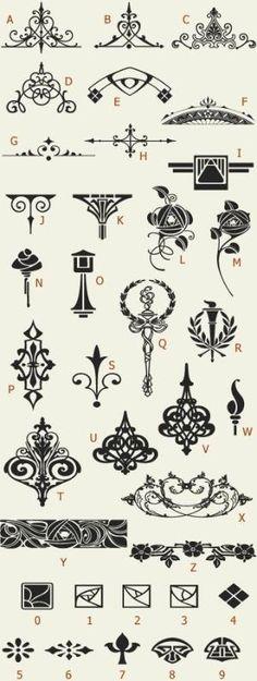 Letterhead Fonts / LHF Golden Era Art Elements / Golden Era Studios by pamela