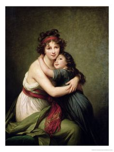 Madame Vigee-Lebrun and Her Daughter, Jeanne-Lucie-Louise (1780-1819) 1789  Elisabeth Louise Vigee-LeBrun
