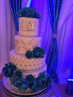 Glam 72nd birthday party cake! See more party ideas at CatchMyParty.com!