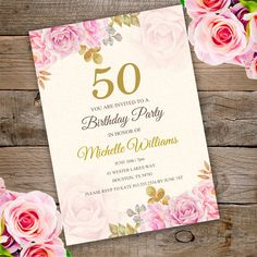 50/40/30 Birthday Invitation Instant Download von StudioPip auf Etsy