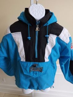 STARTER Carolina Panthers NFL Men s Hooded Coat Jacket - Large L  Starter   BasicCoat Panthers 38554a8ba