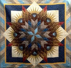 Summer Solstice, Quiltworx.com, Made by Certified Instructor Jan Mathews. Love these colors!
