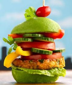 Monster Veggie Burger - Made with chickpeas - Healthy Recipes: 10 Green Foods for St. Patrick's Day - Shape Magazine - Page 3