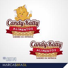 Logotipo – Candy Katty > Desenvolvimento de Logotipo para empresa de doces Candy Katty < #logotipo #marcasbrasil #agenciamkt #publicidadeamericana