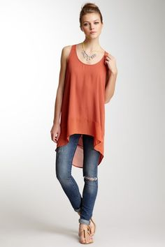 Lush  Sleeveless Hi-Lo Tunic