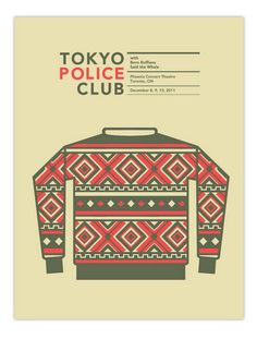 Tokyo Police Club concert poster by Nerl Says Design - Nerl Says - Gallery