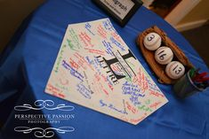 Instead of wedding book, have guests sign the home plate, I could personalize it with your names using vinyl.