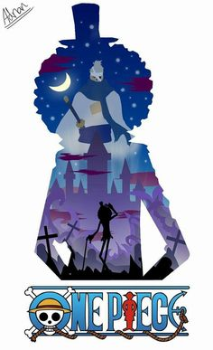 Brook/Soul King Silhouette - one piece #anime