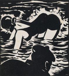 MASEREEL, FRANS. La Sirène: Vingt-Huit Bois Gravés. 28 wood-engraved plates of a man and his elusive Lorelei, paris, 1932