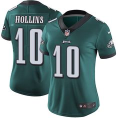Women's Nike Philadelphia Eagles #10 Mack Hollins Limited Midnight Green Team Color NFL Jersey