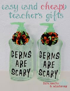 Life Crafts & Whatever: Easy (and CHEAP!) Teacher's Gifts for Halloween