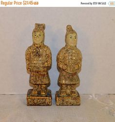 CIJ Sale Ceramic Terracotta Warriors Figurines Vintage Chinese