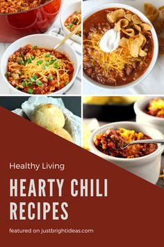 These quick and easy chili recipes are healthy and kid friendly too. They're perfect for lazy winter evenings or tailgating! Hearty Chili Recipe, Chili Recipes, Easy Recipes, Easy Meals, Tailgating, Thanksgiving Recipes, Lazy, Healthy Living, Pumpkin