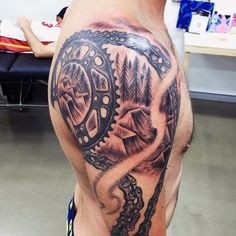 70 Motocross Tattoos für Männer Dirt BikeDesignIdeen Tattoos Ideen