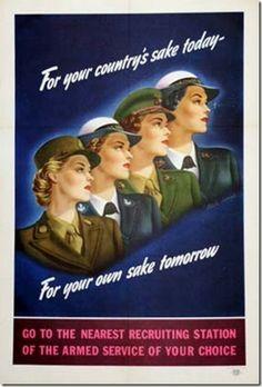 1940s women military recruiting poster