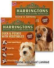 Harringtons Wet Duck Potato Dog Food Trays 8 X 400g Dog
