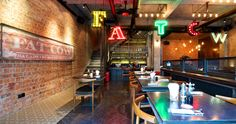 Fat Cow is a burger, steak and salad concept. Designed to be playful modern and industrial as well as a comfortable environment. Located on the popular street, Laowai Jie, Shanghai China. By RED Design Consultants., via Behance Red Design, Cafe Design, Interior Design, Chinese Restaurant, Restaurant Design, Fat Cow, Design Consultant, Shanghai, Behance