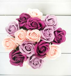 Items similar to Bouquet of soap flowers. Gift for her on Etsy Gifts For Her, Great Gifts, Rose Soap, Luxury Flowers, Purple Roses, Rose Bouquet, Peach Colors, Flower Crafts, Wedding Flowers