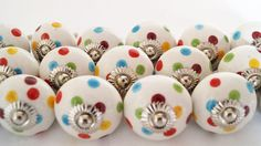 Beautifully handcrafted Multicolor Dot Ceramic Knobs& Handles