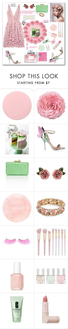 """Be pastel.  Pastel pink + pastel green."" by aura-helena ❤ liked on Polyvore featuring Charli, Deborah Lippmann, Saro, Sweet Lady Jane, Sophia Webster, Christian Dior, Dolce&Gabbana, Design Lab, Essie and Nails Inc."